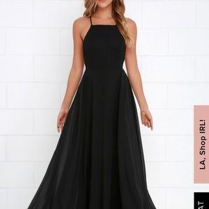 Black flowy bridesmaids dress